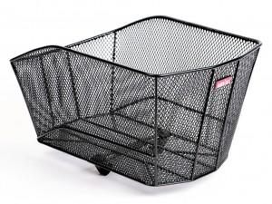 Rear cykelkurv Un`x Venizio black 44x30x22 mm close-meshed | Bike baskets