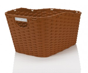 XLC Polyrattan cykelkurv carry more for carry more carriers, brown | Bike baskets