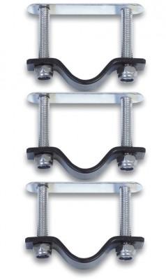 Set of holders for rattan cykelkurv silver stainless steel | Bike baskets