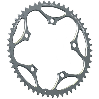Klinge stor compact Stronglight RD 110Ø 50T 9-10 sp sølv | chainrings_component