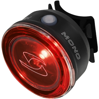 Sigma mono baglygte 0,5W led baglygte - oplades i usb stik - indbygget batteri - godkendt efter nye regler - sort   Rear lights