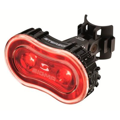 Sigma Stereo baglygte - godkendt efter nye regler - sort   Rear lights