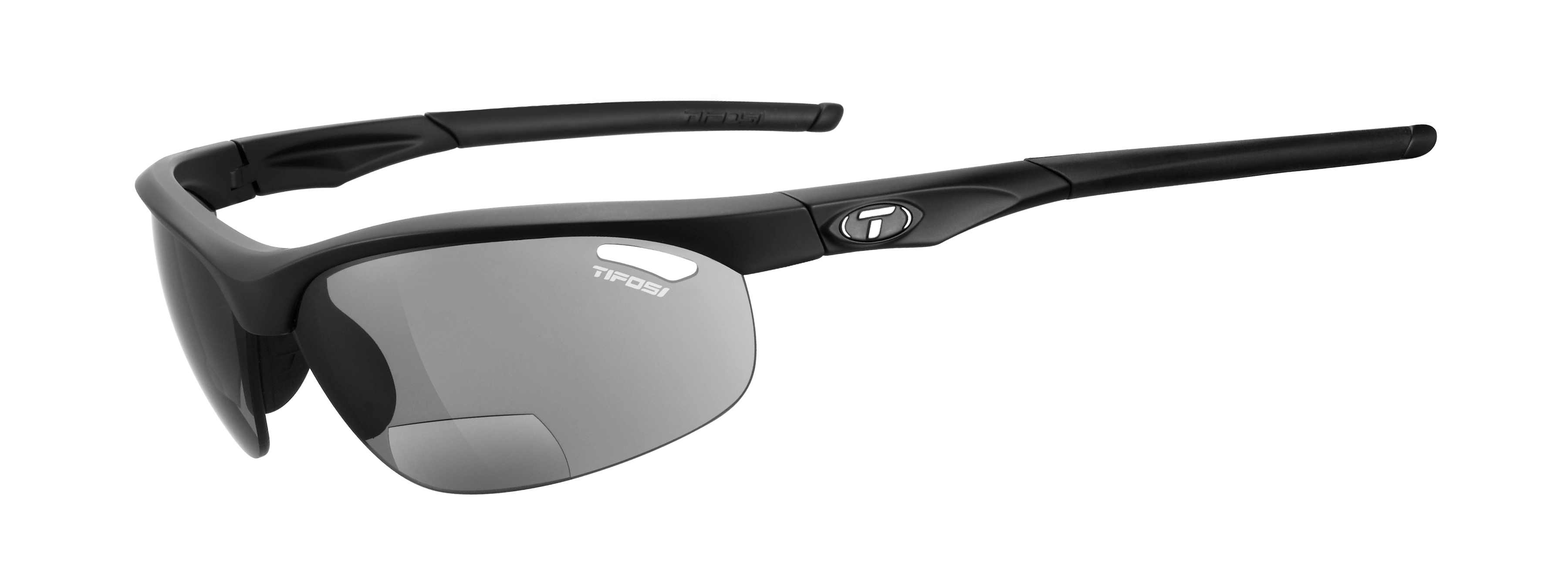 Tifosi cykelbrille Veloce mat sort Smoke Reader +2.5 | Glasses
